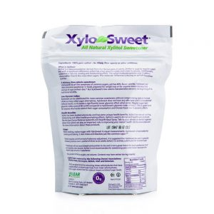 XyloSweet 1 lb bag nutrtion label