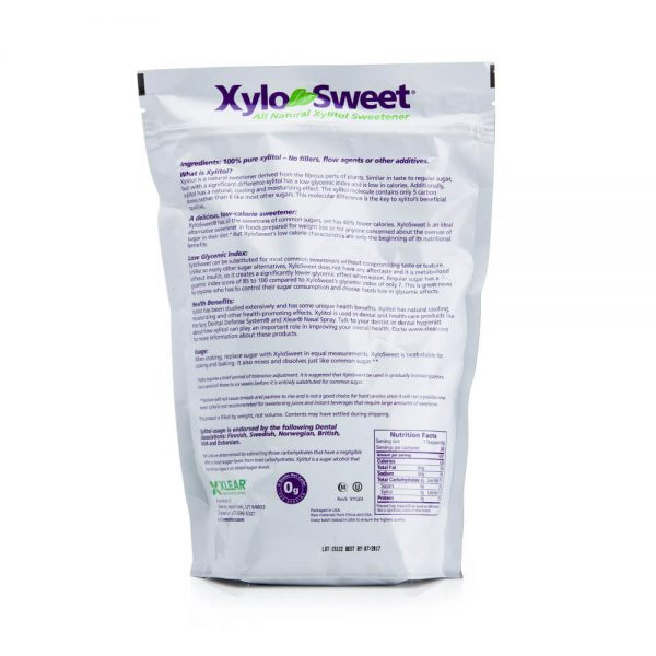 XyloSweet 3 lb bag nutrition label