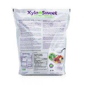 XyloSweet 5 lb bag nutrition label