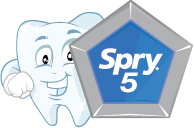 Spry 5 Program Graphic Toothy Character