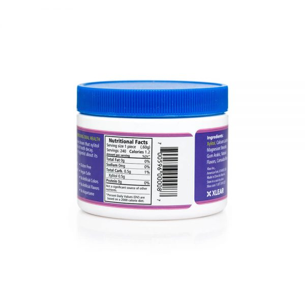 Spry Berry Blast Mints 240 count nutrition label