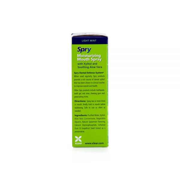 Spry Spearmint Moisturizing Mouth Spray ingredients directions