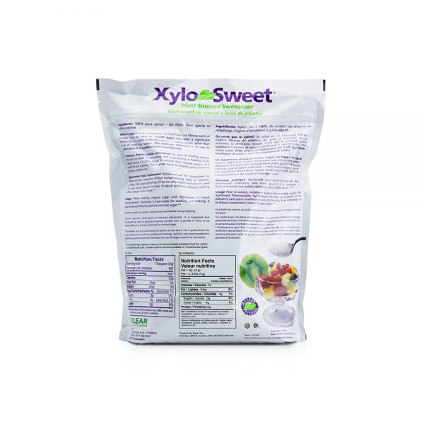 XyloSweet 5 lb bag nutrition panel