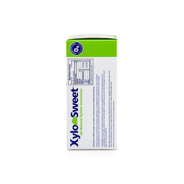 XyloSweet 4 gram 100 count packets nutrition panel