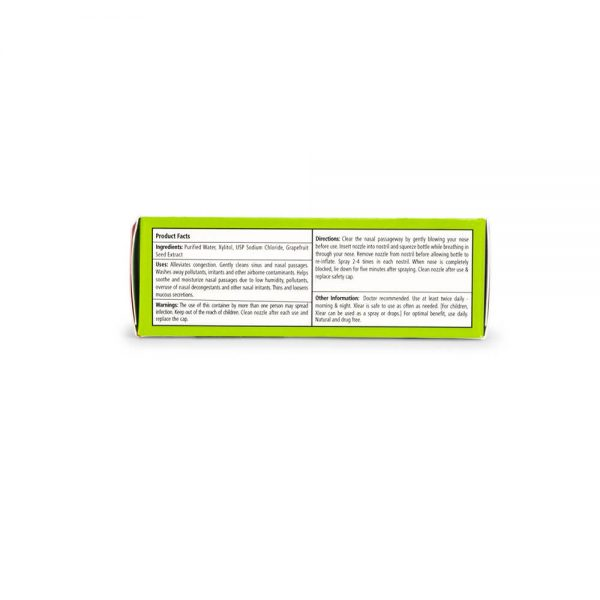 Xlear Original Xylitol Nasal Spray ingredients and facts panel