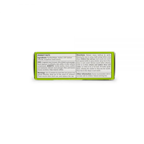 Xlear Kid's Original Xylitol Nasal Spray ingredients and facts panel